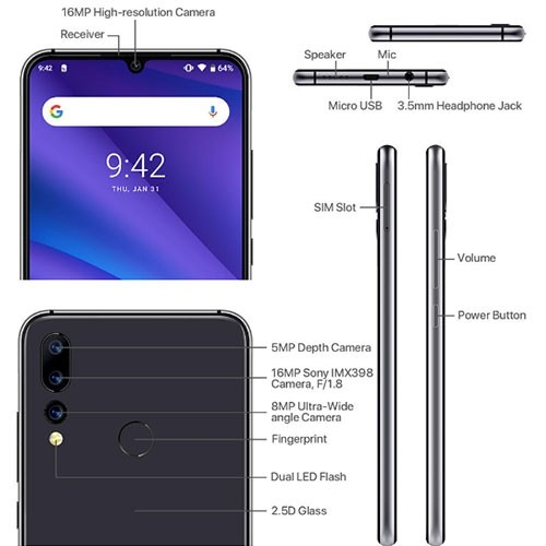A5 Pro 4G Dual SIM Phone Hardware Specifications