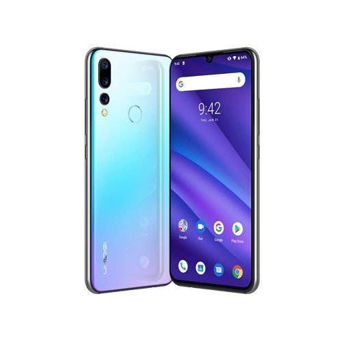 A5 Pro 4G Dual SIM Phone Tilted View Crystal
