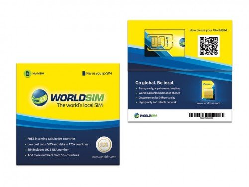 WorldSIM International SIM Card 4