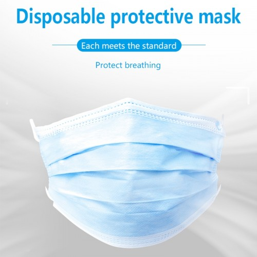 3 Ply Disposable Face Masks For COVID-19