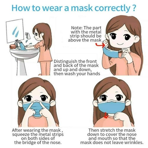 3 Ply Disposable Face Masks How to use
