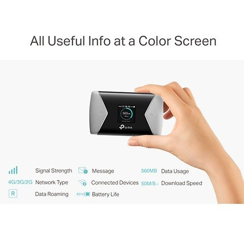 Image result for Advanced Screen & Menu for Easy Using The intuitive screen display of M7650 makes it easy to stay within your data budget and avoids going over the monthly data cap. The screen also displays other much more information of battery life, signal strength, Wi-Fi status, connected users and more.