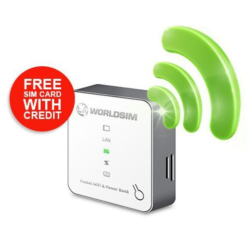 Tri-Fi Portable WiFi Router with Powerbank 2