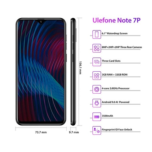 Ulefone Note 7P 4G Mobile Phone Specifications