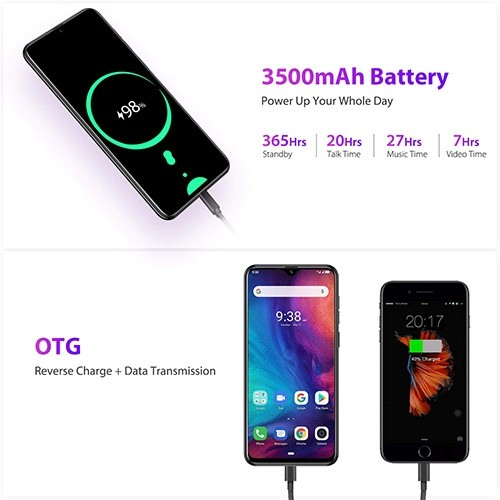Ulefone Note 7P 4G Mobile Phone Battery Hrs