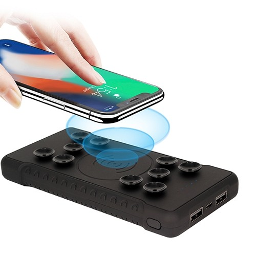 Portable Wireless Powerbank with Suction 1
