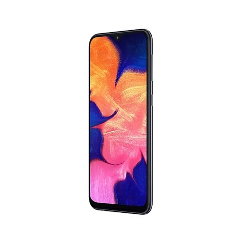 Samsung Galaxy A10 Tilted Right Black View