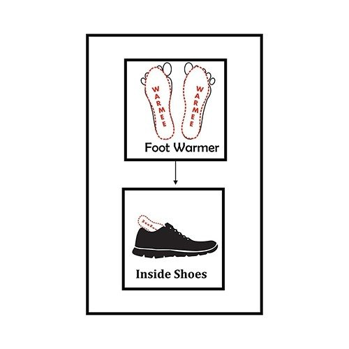 Warmee Foot Warmers Insole Heat Pouch - (2 pairs)  2