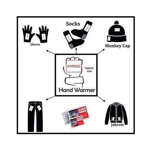 Warmee Hand Warmers Heat Pouch - (pack of 4 regular)  3