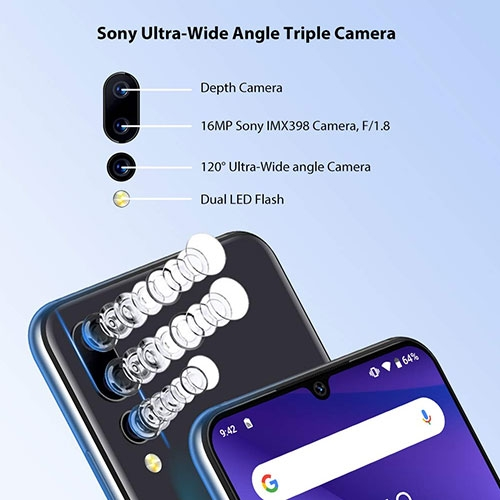 16MP camera Sony Ultra Wide Angle