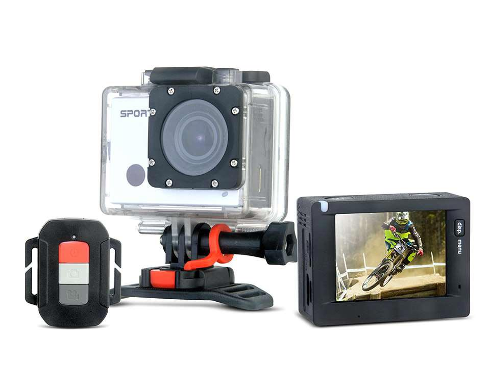 Full HD Action Camera with waterproof case and WiFi