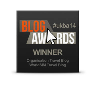 Blog Awards Winner best travel blog