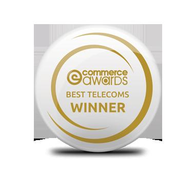 eCommerce Awards winner Best telecoms provider