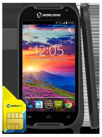 International Roaming SIM android phone
