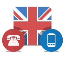 UK mobile landline calls
