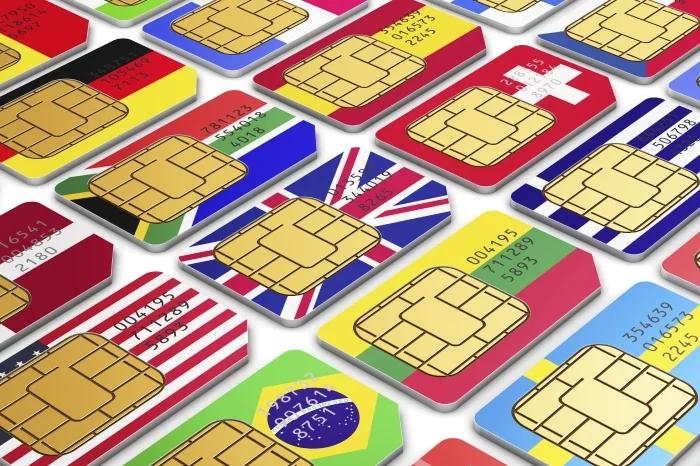 SIM cards from different countries